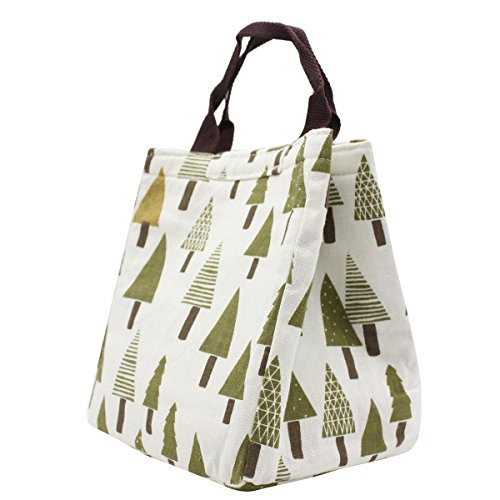 reusable-insulated-lunch-bag-tote-soft-cooler-carry-bag-for-travel-and-picnic-pine-tree