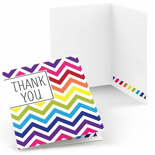 Chevron Rainbow Thank You Cards (8 count)
