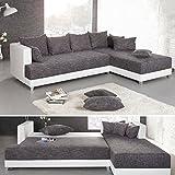 Design-Ecksofa-STAR-Strukturstoff-in-grau-charcoal-und-wei-inkl-Kissen-Bettkasten-Bettfunktion-OT-rechts