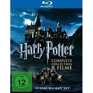 amazon: Harry Potter Komplettbox (Teile 1-7.2 auf 11 Blu-rays) für nur 49,97€ inkl. Versand! - DVD: 39,97€