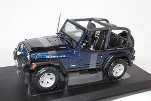 jeep wrangler rubicon cabrio blau 1 18 maisto modellauto modell auto spielzeug. Black Bedroom Furniture Sets. Home Design Ideas