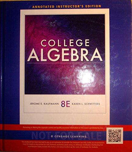 Aie College Algebra 8e 9781111990510 Slugbooks