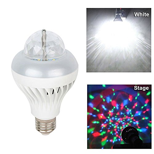 3 Watt 2 in 1 Rotating Disco RGB LED Bulb (White)
