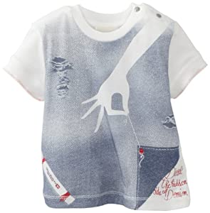 Diesel Baby Girl Short Sleeve T-Shirt (Cream, 9 Months)