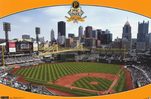 Pittsburgh Pirates PNC Park Sports Poster Print