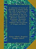 A collection of forms of pleadings in actions under the code of procedure of the state of New York : and adapted to the new practice in the states of ... Alabama; the territories of Oregon and Minn