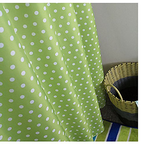 Waterproof and Mildew-Free Shower Curtain with Hooks Multi-colored ...