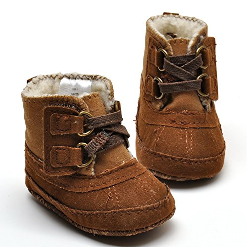 Baby Boys' Plush Boots Brown US 3
