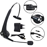 Ancerson Lightweight Gaming Headphone Headset Single Earpiece Wireless Bluetooth Stereo Earphone for Playstation 4 PS4: with Mic Microphone Volume and Mute Controls (Black)
