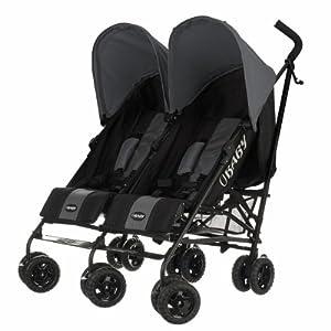 Obaby Apollo Black & Grey Twin Stroller (Grey)