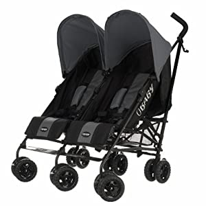 Obaby Apollo Black & Grey Twin Stroller (Grey)