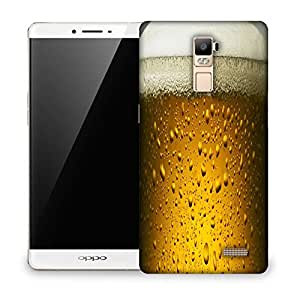 Snoogg Chilled Beer Designer Protective Back Case Cover For OPPO R7 PLUS