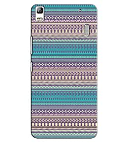 EU4IA Ethnic Pattern MATTE FINISH 3D Back Cover Case For Lenovo A 7000 - D215