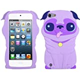 Purple Dog Silicone Soft Cover Case for Apple iPod Touch 5 5th Gen