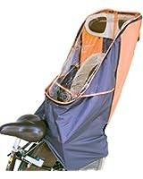 LAKIA(ラキア)子供乗せ自転車用 チャイルドシート レインカバーVer.2 リア用 オレンジ