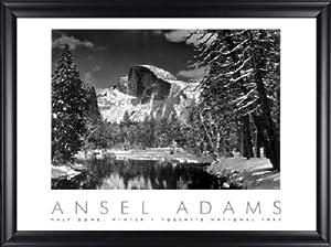 Half Dome Merced River Ansel Adams 34x28 Gallery Quality Framed Art Print Landscape B&W Photography