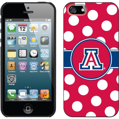 Great Sale University of Arizona Polka Dots design on a Black iPhone 5s / 5 Thinshield Snap-On Case by Coveroo