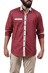 Fadjuice Men's Shirt (Fj43745L_Maro Gray _Large)
