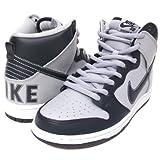 (ナイキ)Nike Dunk High Premium SB ダンク 灰/紺/白 313171-440 US8.5(26.5cm) ハイカットスニーカー メンズ グレー/ダークネイビー/ホワイト