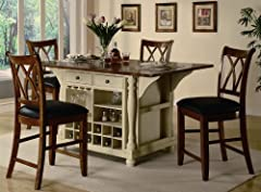 Buttermilk and Cherry Kitchen Island Collection by Coaster