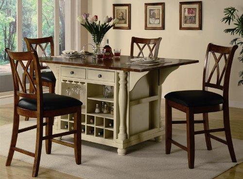 Cool Buttermilk and Cherry Kitchen Island Collection by Coaster