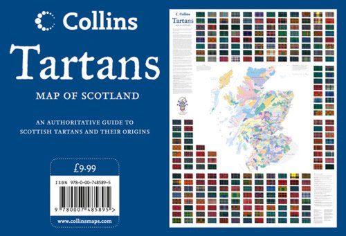 Tartans Wall Map Of Scotland