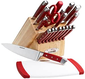 Cuisinart 21-Piece Knife Set with Block and Bonus Poly Cutting Board
