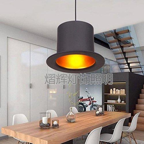 FULL Semplice Creativo Il lampada a sospensione per la decorazione, casa, bar, ristorante,club, etc di cappello creativo gentiluomo , short head, senza luce