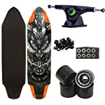 "Woodstock Chieftain 38"" Longboard Complete with Landyachtz Bear Black Trucks Abec 9 Bearings Streaker Wheels"