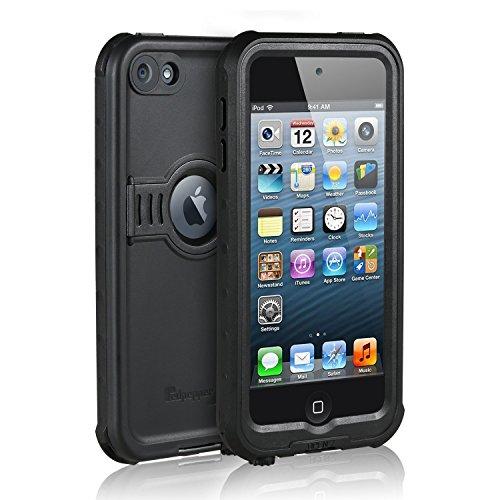 Merit iPod touch 5 iPod touch6(iPod Touch 第6世代、第5世代)防水ケース 防雪 防塵 防埃 耐衝撃 フルプロテクションカバー防水ケース (ブラック)