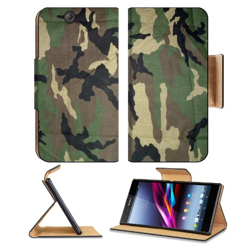 Military Army Camouflage Sony Xperia Z Ultra Flip Case Stand Magnetic Cover Open Ports Customized Made To Order Support Ready Premium Deluxe Pu Leather 7 1/4 Inch (185Mm) X 3 15/16 Inch (100Mm) X 9/16 Inch (14Mm) Msd Sony Xperia Z Ultra Cover Professional