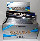 Rizla Micron King Size Slim (Micron Thin) Smoking Rolling Papers - 1 Box X 50 Booklets by Trendz