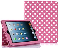 SUPCASE Apple iPad 4 & iPad 3 with Retina Display Slim Fit Folio Leather Case (Spotty Pink) - Elastic Hand Strap, Support Auto Wake/Sleep, Compatible with iPad 2, Not Fit iPad 5 from SUPCASE