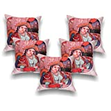 First Row Queen Digital Print Cushion Cover Set Of 5