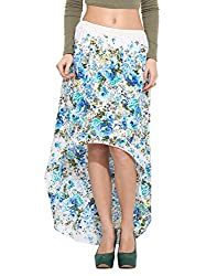 Albely Women Cotton Printed High Low Skirt