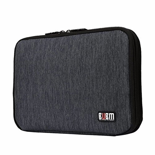 BUBM Universal Bilayer Travel Organizer Bag, Electronics Accessories Cable Battery Charger Case(Medium-Bilayer Black) (Universal Electronics Batteries compare prices)
