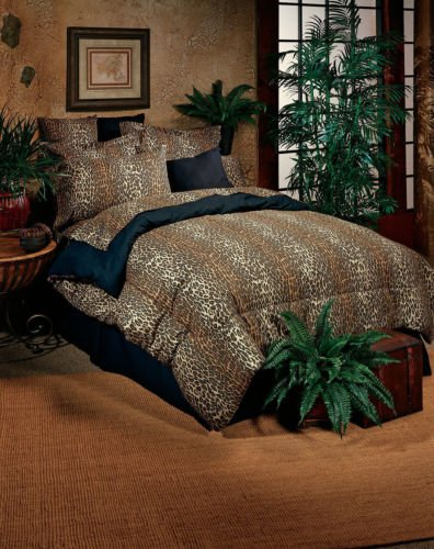 Leopard Animal Print Comforter Bed In A Bag Set With Sheets Shams & Bed Skirt front-958219