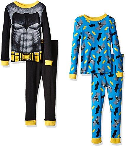 DC Comics Boys' Batman Vs Superman 4pc Cotton Sleepwear at Gotham City Store