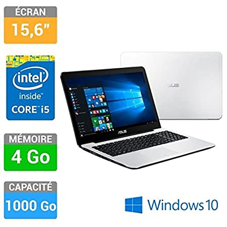 ASUS Ordinateur portable 15.6'' I5 4Go 1To Win10 X554LA-XX959T Blanc
