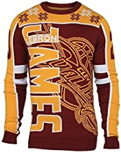 Forever Collectibles NBA Cleveland Cavaliers James L. #23 2015 Player Ugly Sweater, Large, Red