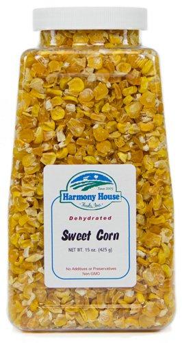 Harmony House Foods, Dried Corn, Whole, 14 Ounce Quart Size Jar