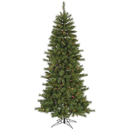 6' Pre-Lit Newport Mixed Pine Artificial Christmas Tree - Multi Lights