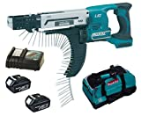 MAKITA 18V LXT BFR750 BFR750Z BFR750RFE SCREW GUN, 2 x BL1830 BATTERIES, DC18RC CHARGER AND LXT400 BAG - PF TRADE