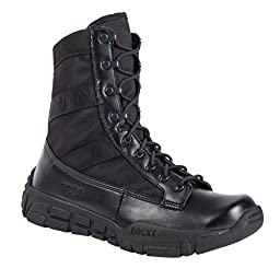 Rocky Men\'s Military Inspired Duty Work Boots, Black Synthetic, 6 M