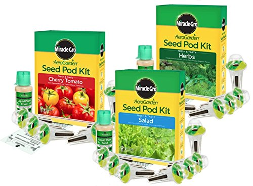 Miracle Gro Aerogarden Seed Kit Bundle Tomato Salad Herbs