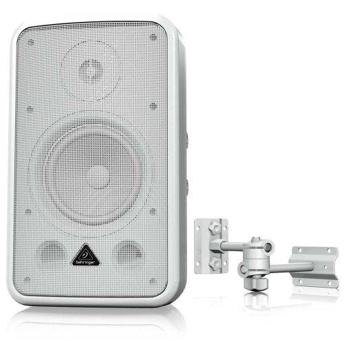 Behringer Ce500A-Wh Business Environment Speaker High-Performance, Active 80-Watt Business Environment Speaker System, White