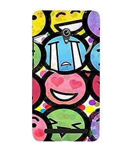 EPICCASE Emojis Mobile Back Case Cover For Asus Zenfone 6 (Designer Case)