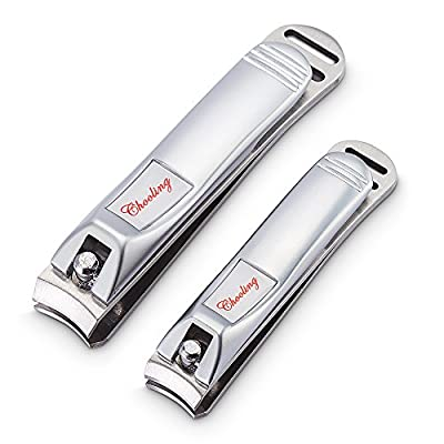 Chooling Fingernail & Toenail Clippers Set - Sharpest Stainless Steel Big Nail Clipper - Quality Nail Trimmer - Perfect Nail Cutter for Men & Women - Great Gift