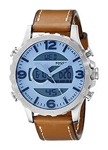 buy Fossil Men'S Jr1492 Nate Analog-Digital Display Analog Quartz Brown Watch
