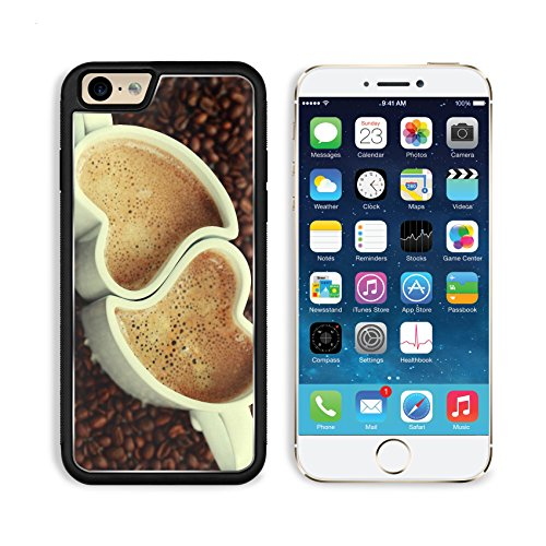 Coffee Beans Heart Shape Cups Apple Iphone 6 Tpu Snap Cover Premium Aluminium Design Back Plate Case Customized Made To Order Support Ready Msd Iphone_6 Professional Case Touch Accessories Graphic Covers Designed Model Sleeve Hd Template Wallpaper Photo J